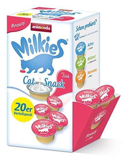 Animonda Milkies Multipack, Katzenmilch portioniert, Beauty, 20er Pack (4 x 300 g)