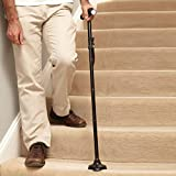 24hr Safety Walking Stick Light Folding Adjustable Aluminium Pole Cane Black by Easylife