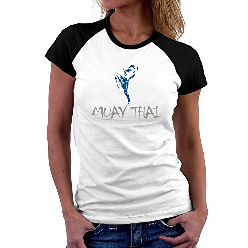 Teeburon Muay Thai Damen Raglan T-Shirt (Damen-t-shirts Thai Baumwolle)