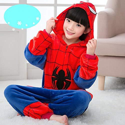 Spinne Cosplay Kostüm Mädchen Film Cosplay Halloween Rot Trikot/Halloween Karneval Maskerade Kleider,Child-S (Rächer Mädchen Kostüme Für)