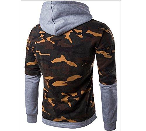 Xing Lin Felpa Con Cappuccio Da Uomo Giovani Felpa Con Cappuccio Autunno Uomini Nuovi Due Camouflage Felpa Con Cappuccio Camouflage Maschio gray