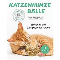 Katzenminze | Fördert den natürlichen Spieltrieb | Katzenminze Bälle | 3 Stück | 100% rein natürlich | Katzenspielzeug in Premimumqualität von Tillmann's