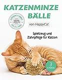 Katzenminze Katzenspielzeug Katzenminze Ball Katzenball (3 Stück) in umweltfreundlicher Verpackung, 100% aus reiner Katzenminze Fördert den natürlichen Spieltrieb und hilft Katzen zu entspannen Für Katzen jeden Alters