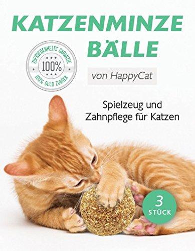 Katzenminze | Fördert den natürlichen Spieltrieb | Katzenminze Bälle | 3 Stück | 100{afdd4fde0aca728b4015ba389d97449eaaefccbb189f8fa29f979ecd76fc676d} rein natürlich | Katzenspielzeug in Premimumqualität von Tillmann\'s