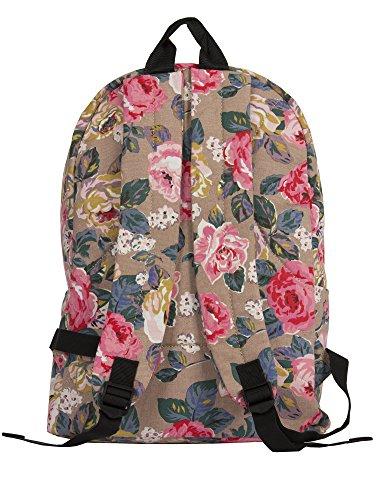 Big Handbag Shop, zaino da viaggio grande, con zip e Tasche, unisex, leggero, fantasie varie Animal Print - Blue