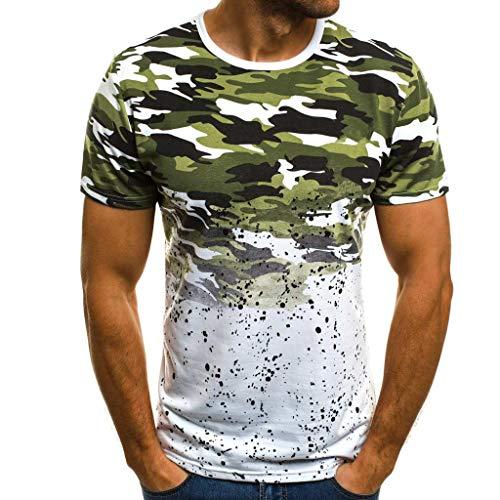 Luckycat Tank Top Herren Slim Fit Basic Camouflage Print Kurzarm T-Shirt Herren Training Tank Top Weste Hoodie Gym Fitnesss Sport Weste Jacke Sport Bekleidung Herren Sommer Muskelshirt Tees Top