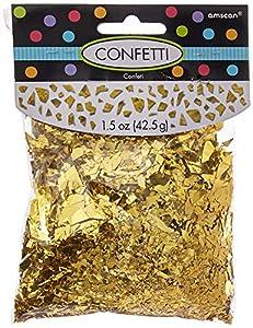 Amscan International 369002-19 Confetti-70g Emb/Print/Met/SCCNF 15 GLD SPRKLE FL Shred