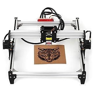 KKmoon 5500mw Desktop DIY Lasergravurmaschine CNC Engraver Carver Laserdrucker mit Schutzbrille zum Schnitzen und Gravieren,Arbeitsgröße: 395 mm x 285 mm (A3)