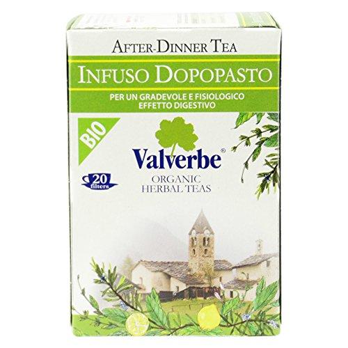 VALVERBE - Infusion de Montaña Después de la Comida - con Salvia, Romero y Cáscara de Limón - Altamente Estimulante y Digestivo - Vegano OK - 20 Filtros