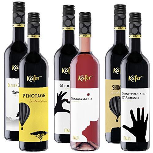 6,66€/L Käfer Wein Mischpakete Chardonnay Grüner Veltiner Pinotage 6 x 0,75L (6x 0,75L Käfer Wein Paket 3)