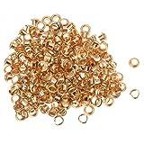 SODIAL(R) 200 Metall runde oesen/Eyelets/Nieten Golden Farbe 8mm 0.35