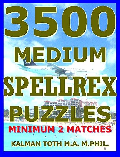 3500 Medium Spellrex Puzzles: Minimum 2 Matches (English Edition)