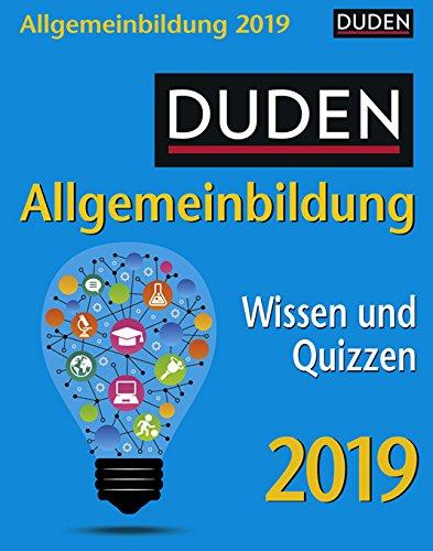 Allgemeinbildung Duden - Kalender 2019 - Wissen und Quizzen - Harenberg-Verlag - Tagesabreißkalender - 11 cm x 14 cm