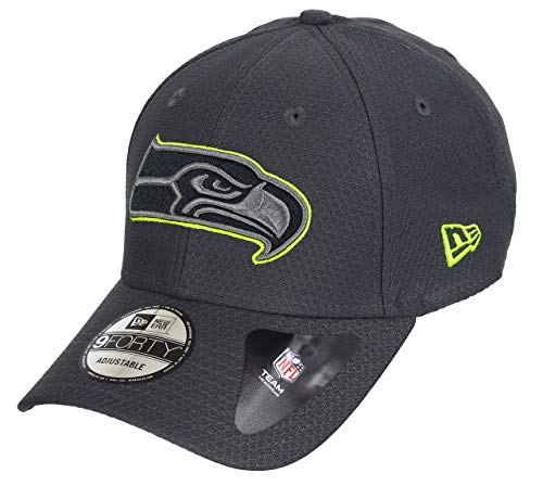 New Era Seattle Seahawks 9forty Adjustable Cap NFL Hex Era Graphite - One-Size (Baseball-cap Nfl-seahawks)