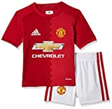 adidas Kinder Manchester United Mini Trikot-Set, Top:Real Power White Bottom:White/Real Red, 116