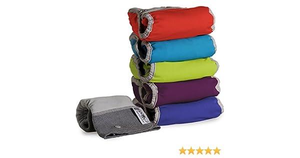 Close Parent 25788/ /Pack de 5/Couches en tissu avec int/érieur en bambou Couleurs vives