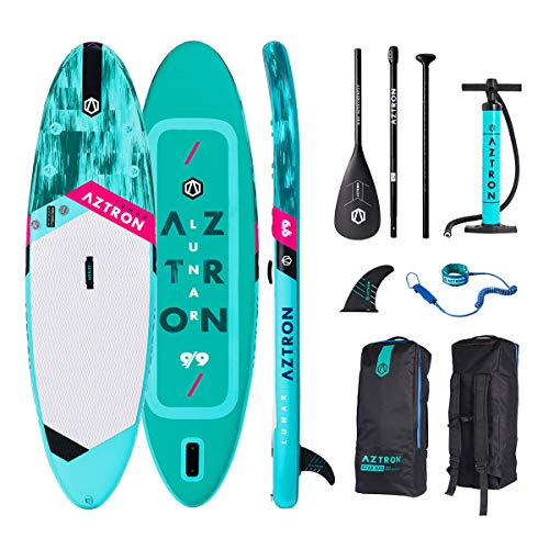 AZTRON Lunar 9.9 Sup Stand up Paddle Board mit Style Alu Paddel und Leash - Board Air System