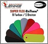 BioThane® Meterware, Beta Super Flex, 9-25 mm breit, ca. 1,5 mm dick, viele Farben, 9mm, Azurblau