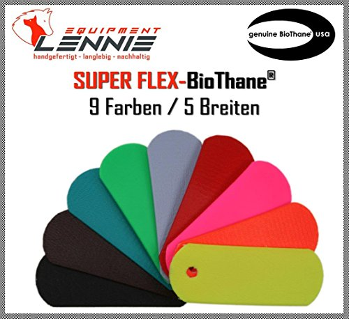 BioThane® Beta Meterware/ca. 1,5 mm dick (Super Flex) / 9-25 mm Breite [9 mm] / 13 Farben [Azurblau]