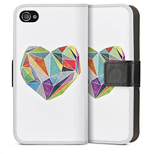 Apple iPhone 5s Housse Étui Protection Coque Amour Amour Amour Sideflip Sac