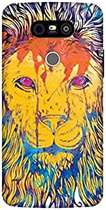 The Racoon Grip Lion Watercolor hard plastic printed back case / cover for LG G5
