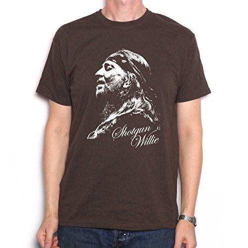 Willie Nelson Portrait T-Shirt marrone L