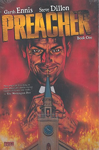 """Merging with a bizarre spiritual force called Genesis, Texan Preacher Jesse Custer becomes completely disillusioned with the beliefs that he had dedicated his entire life to. Now possessing the power of """"the word,"""" an ability to make people do whatev..."""