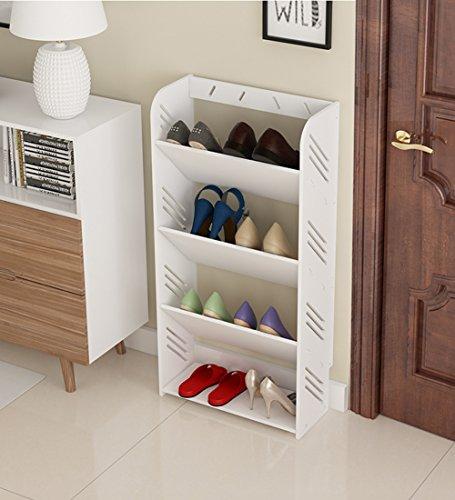 Zfggd Estante para Zapatos Triángulo Inclinado Diseño a Prueba de Humedad Ensamble Fácil Elegantemente...
