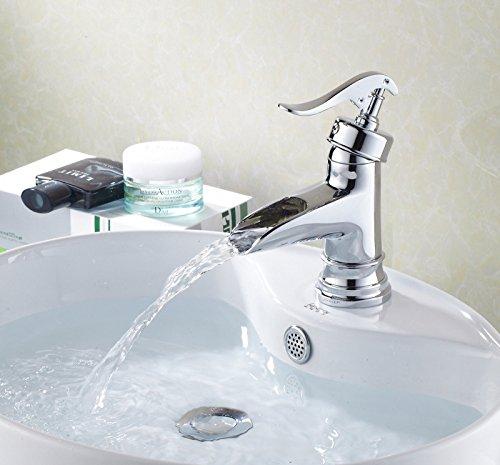 UHM Chrome cascata vasca da bagno rubinetto montato sulla testata