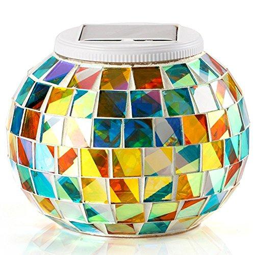 Solar Powered Mosaik Solarleuchten LED Magic Ball Farbwechsel für Schlafzimmer, Party, Garten, Innen- / Außenbeleuchtung Dekoration [Energieklasse A +++]