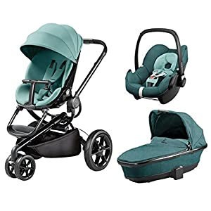 Quinny Quinny Moodd Pushchair, Foldable Carrycot, Pebble Car Seat Package - Novel Nile   4