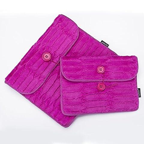 "Unique Minky Fur Fabric iPad Tablet cases for Mini 7"""