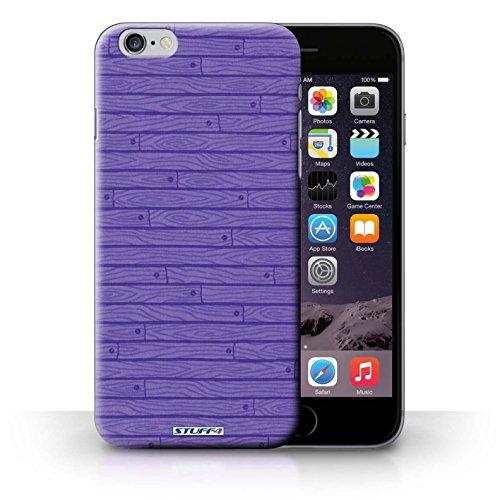 Kobalt® Imprimé Etui / Coque pour iPhone 6+/Plus 5.5 / Gris conception / Série Motif Bois Pourpre