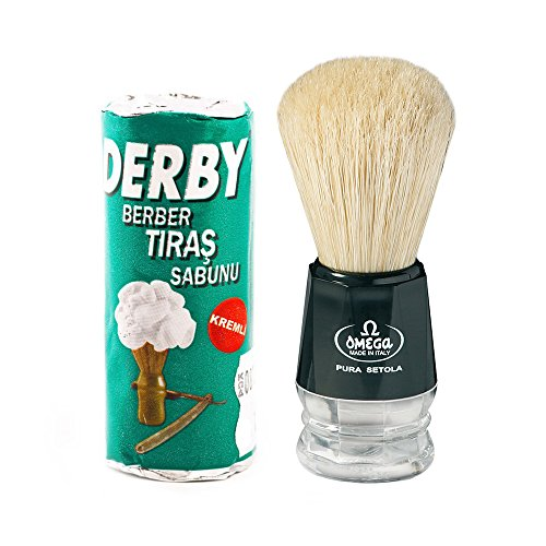 Sapone da barba in Stick Derby 75Gr con Pennello Omega in pura setola