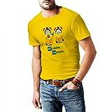 Fashionalarm Herren T-Shirt - Breaking Bananas Min. Parodie | Fun Shirt als lustige Geschenk Idee für Bad Kult Serie Fans, Farbe:gelb;Größe:4XL