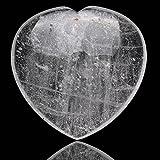 Cadeau fete des meres coeur en pierre veritable cristal de roche...
