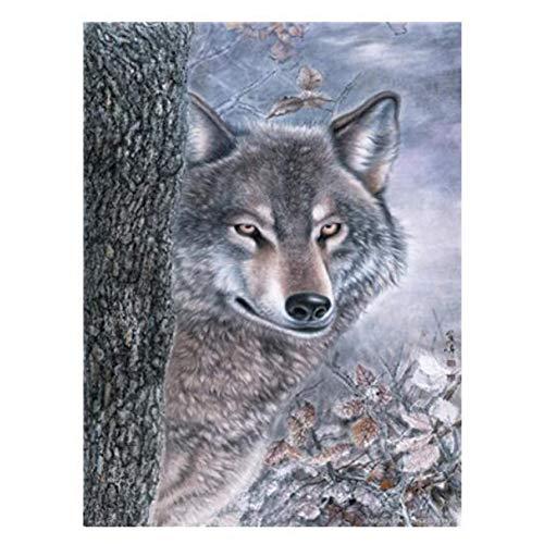 ANTLSZH Digitale Malerei DIY Malerei Für Wanddekoration Malen Nach Zahlen 40X50 cm Wolf Malen Anzahl Kits Erwachsene (Live-schmetterling-kit)