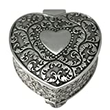 Novias Vintage Style Elegant Heart Shape Pattern Engraving Antique Silver Small Trinket Christmas Gift by Civetta best price on Amazon @ Rs. 2207