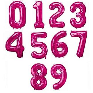Amscan Supershape Luftballons in Zahlen-Form, Pink (3) (Pink)