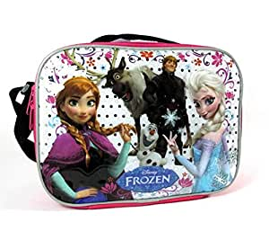 Disney Frozen Lunch Bag with Strap Features Elsa Anna Olaf Kristoff Sven
