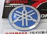 100% GENUINE 55mm Durchmesser YAMAHA STIMMGABEL Aufkleber Sticker Emblem Logo BLAU / SILBER Erhöht Gewölbt Metalllegierung Bau Selbstklebend Motorrad / Jet Ski / ATV / Schneemobil