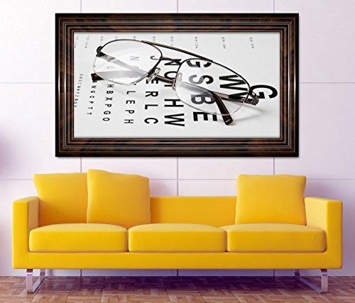 3D Wandtattoo Arzt Auge Augenarzt Brille Test Beruf selbstklebend Wandbild Tattoo Wohnzimmer Wand Aufkleber 11L465, Wandbild Größe F:ca. 140cmx82cm