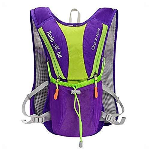 Ouzhoub Ultralight laufende Rucksack in der Nähe von The Body Laptop Rucksack für Frauen & Männer (Color : Purple)