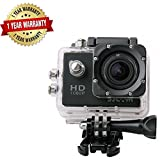 #10: Arnix Sports Action Camera Video Camera Waterproof Digital Cam Car Dash Cam Full HD 1080P 12MP 25fps 30fps Helmet Mount Accessories Camera Kit 2 Inch LCD Screen