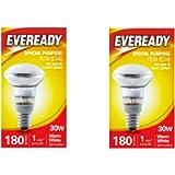 Eveready R39 Reflector Bulb 30W Small Edison Screw Lava Lamp X 2, E14, 30 W