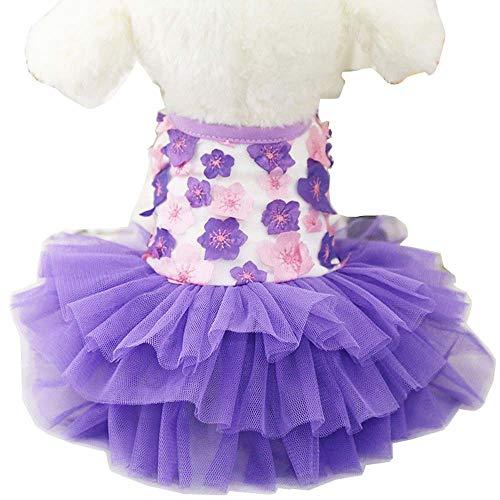 YEKEYI Frühling/Sommer Prinzessin Haustier Kleid für Kaninchen, Hunde und Katzen, süßes Häschen Dekor Tutu Kleid Haustier Kostüm - Kaninchen Kostüm Für Hunde