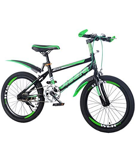 Kinderfahrräder Mountainbikes 22 \'\' Verdickter Hochmesser-Ring Single Speed Scheibenbremse Mountainbike Spezieller Sattel Ananas Textur-Reifen,Green