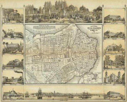 Plano Pintoresco De La Habana, 1853