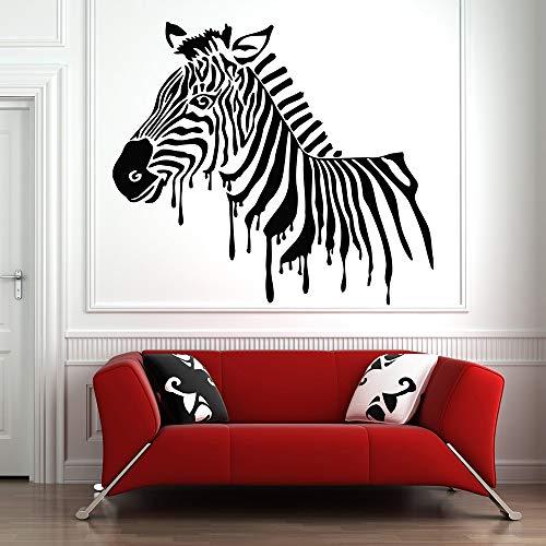 Geiqianjiumai Afrikanische Tier Sticker Wanddekoration Kinderzimmer Selbstklebende Tapete Heimtextilien schwarz 48x42cm - Herz-bade-bombe