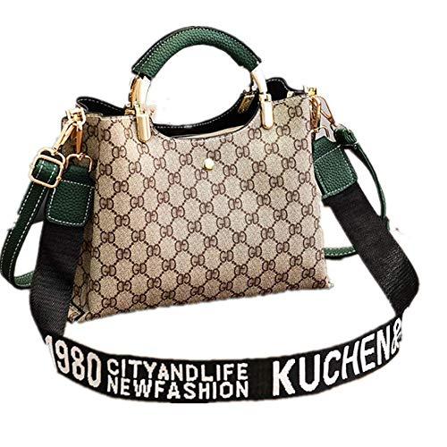 SHUIZAI Handtasche Handtasche, Handtasche, Schulterriemen, Schulterriemen. 25 * 12 * 19cm/E-Aqua-Mono-Tinte grün -